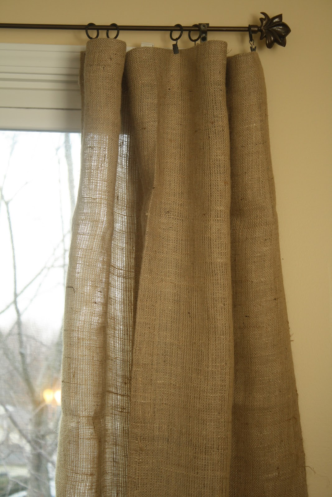 Our Lifes A Hoot March Madness Burlap Curtains