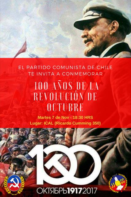 INVITACIÒN 100 AÑOS DE LA REVOLUCIÒN DE OCTUBRE