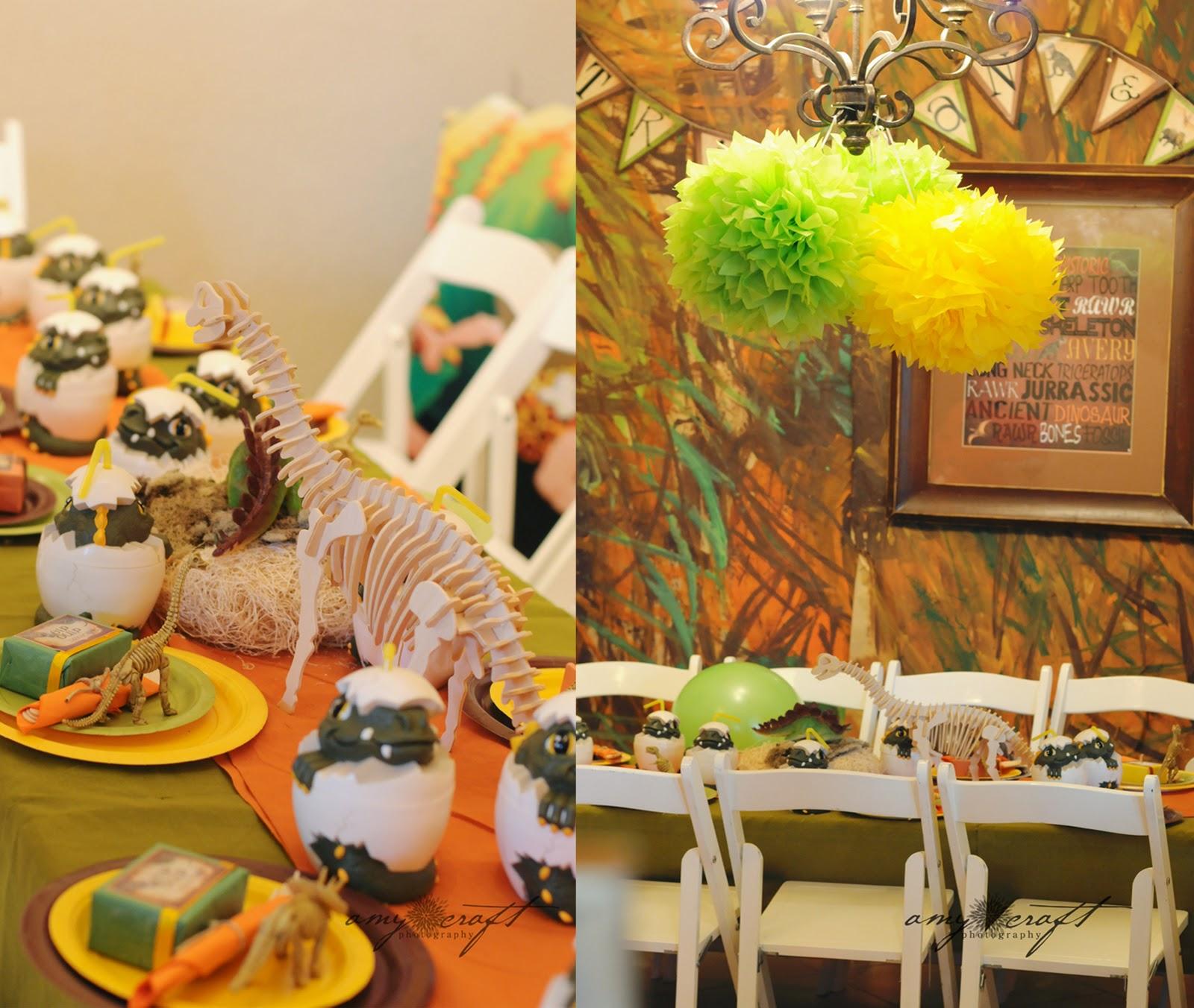 Kara's Party Ideas Rustic Dinosaur Twins Birthday Party