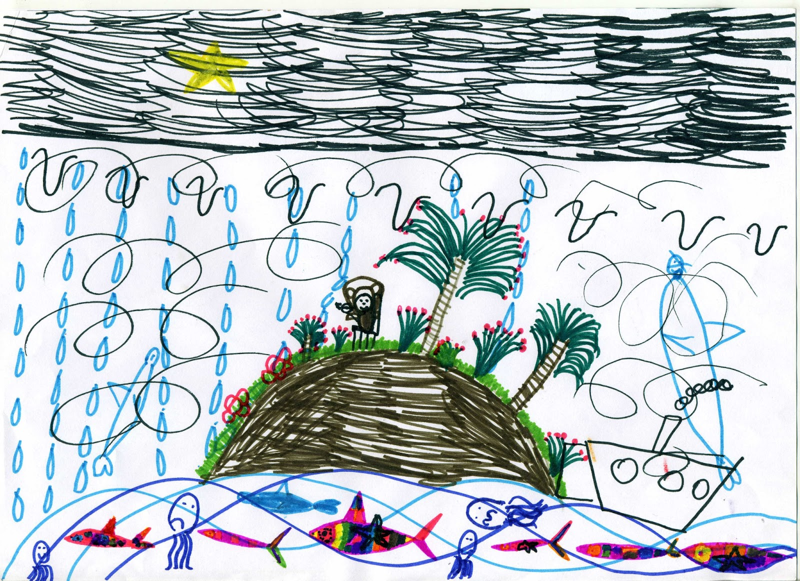 плавучий остров в океане
