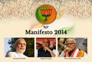 BJP election manisfesto