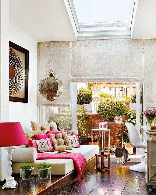 decorar con toques de color rosa decoracion marroqui
