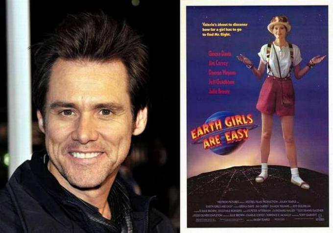 "Jim Carrey First role: ""Earth Girls Are Easy"" (film), 1989. Jackie Chan"