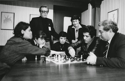 Lucerne, 1982. Olympiade d'échecs avec Kasparov
