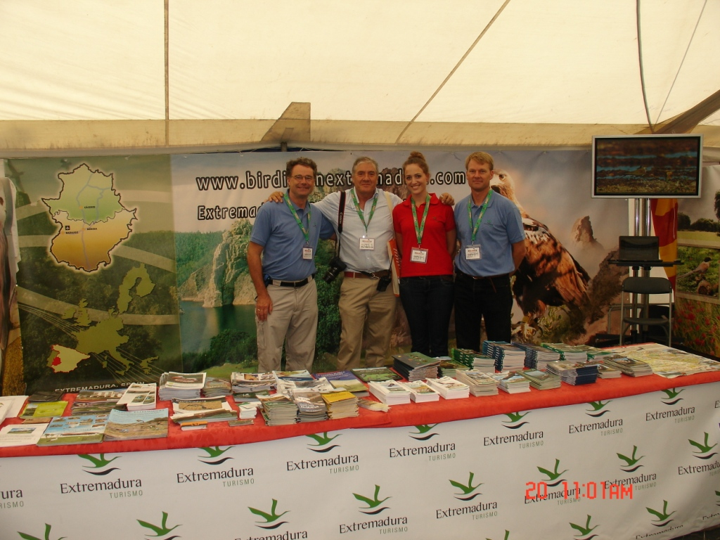 Trade Stands Glastonbury : Birdingextremadura extremadura in the british birdfair