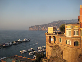The view from the Foreigners Club in Sorrento.