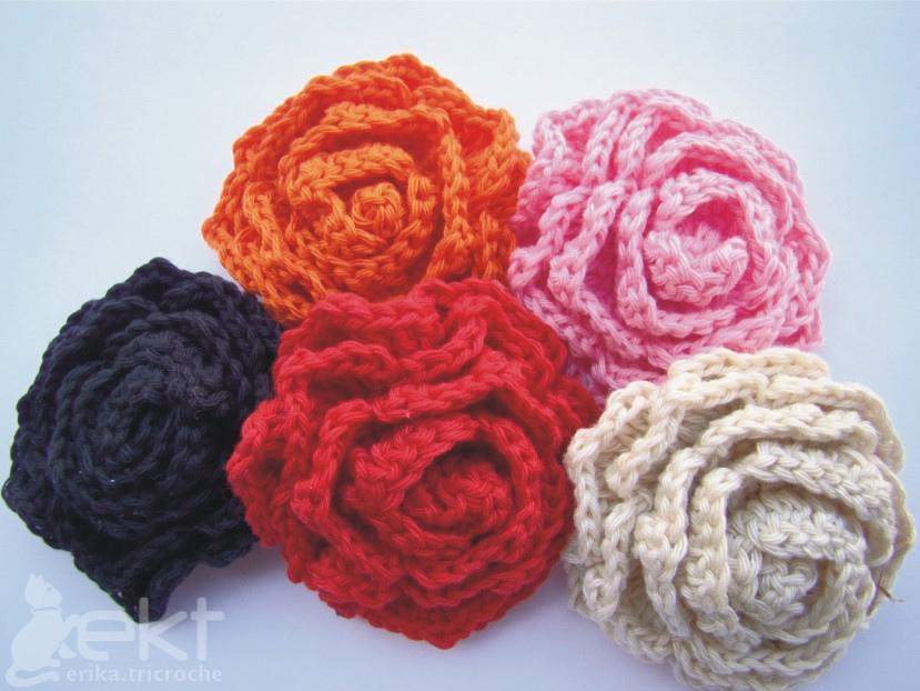 Knitting Flowers Crochet : Crochet flower pattern knitting gallery