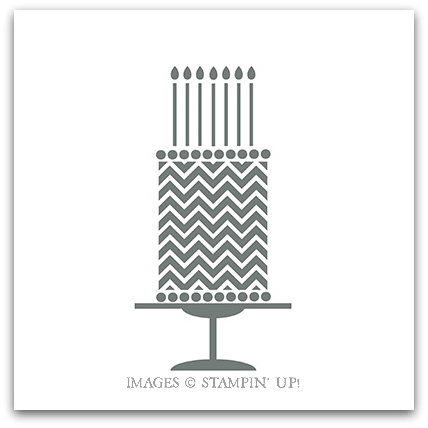 Birthday Cake Stamp Brush - Stampin' Up! Digital Download
