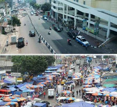 Foto Pasar Tanah Abang Sebelum dan Sesudah Relokasi