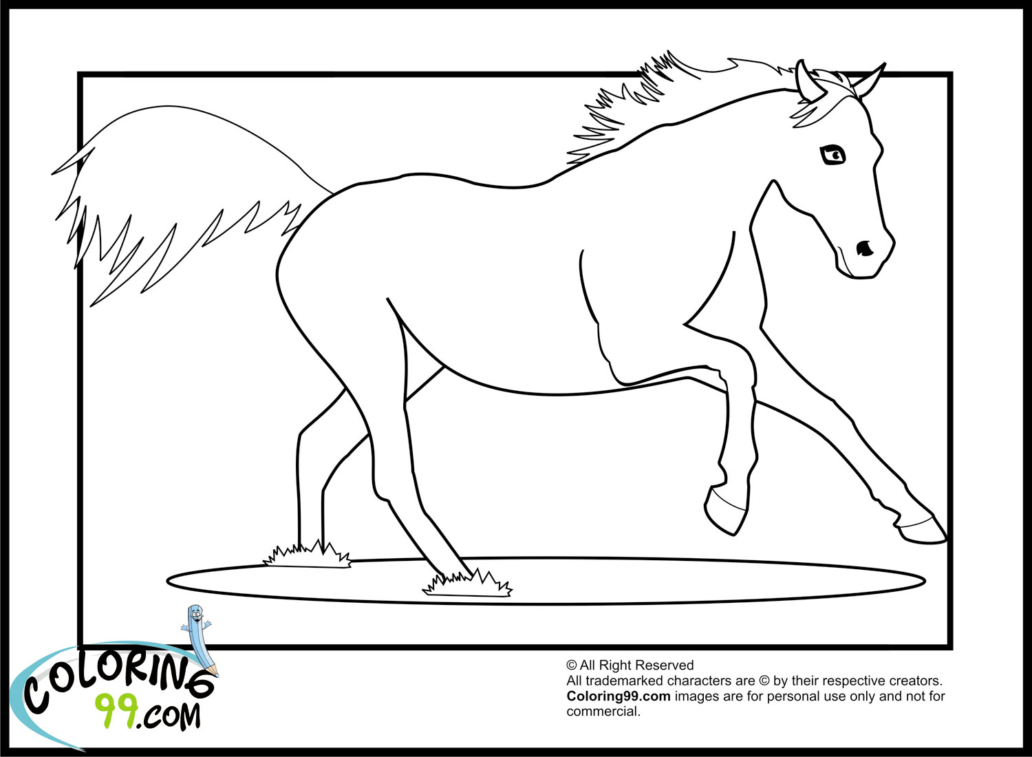 coloring pages horses running - photo #49