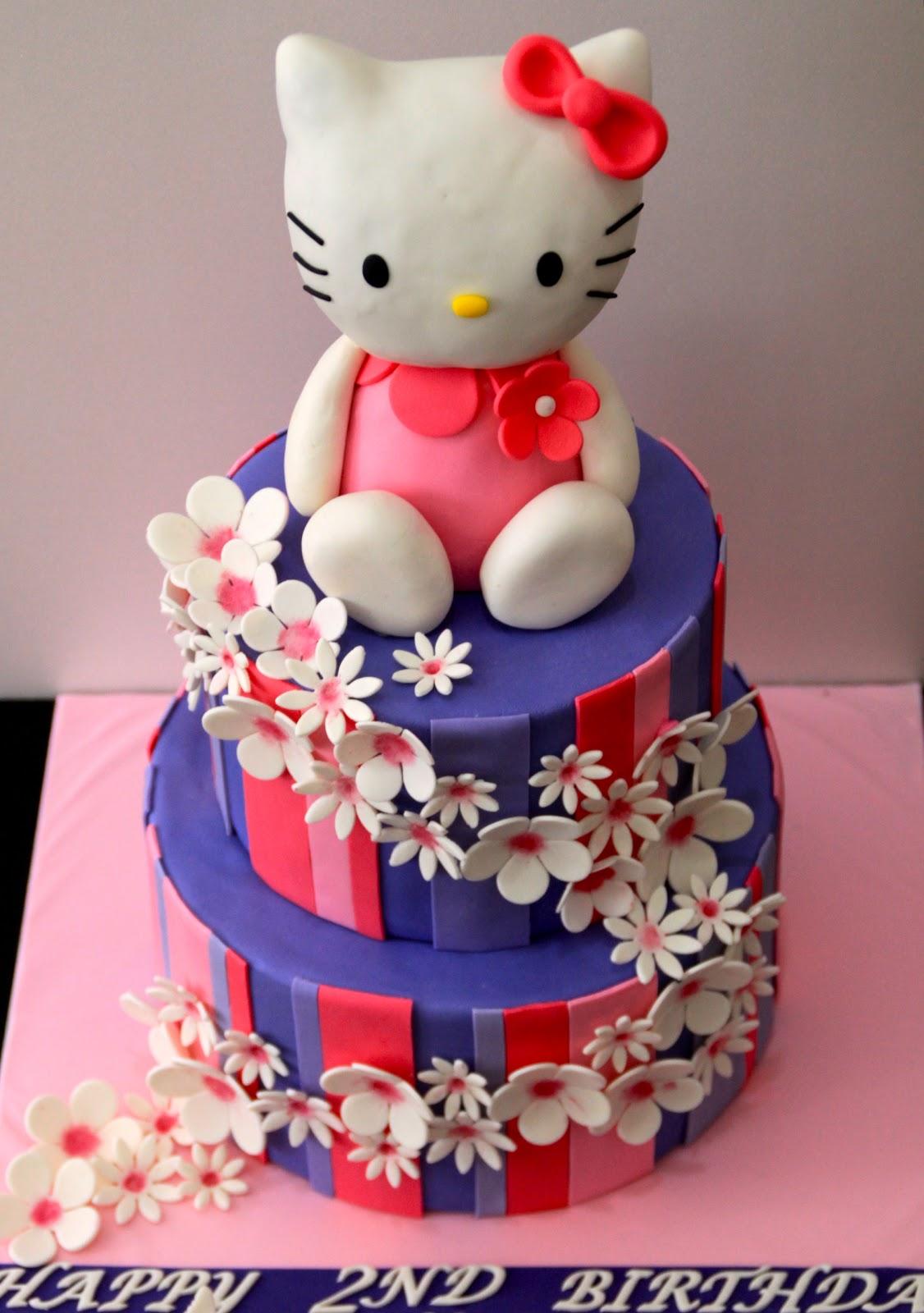Simple Hello Kitty Birthday Cake