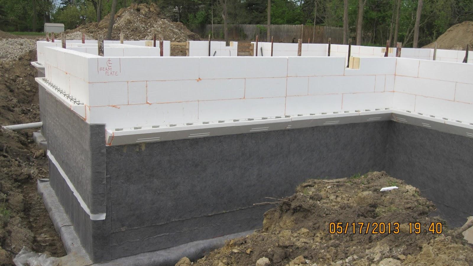 installerd on insulating concrete form icf blocks in basement