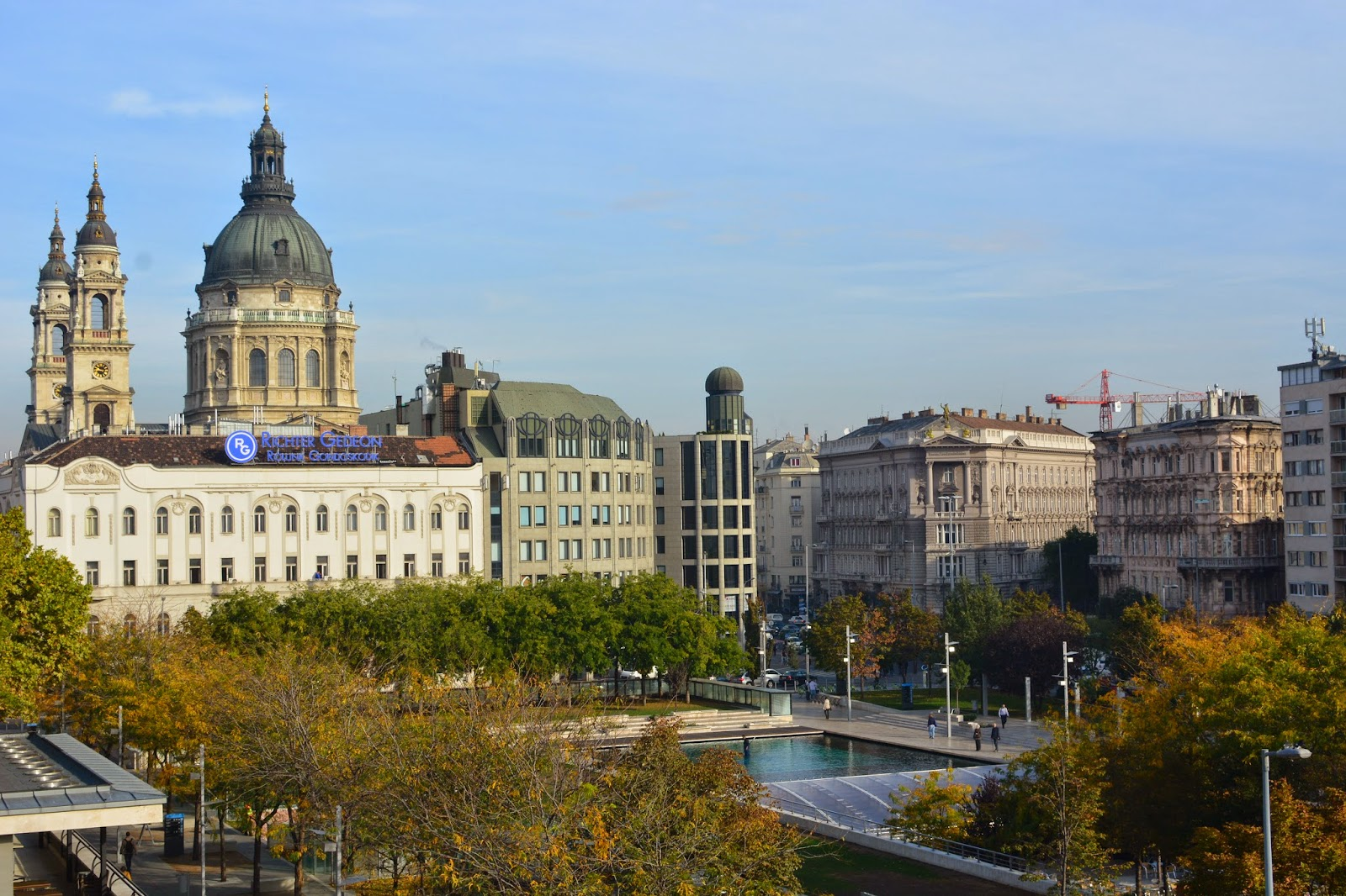 View of St Stephen's from Le Meridien Budapest