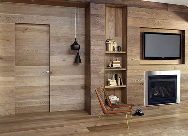 New home designs latest wooden wall interior designs Wooden interior