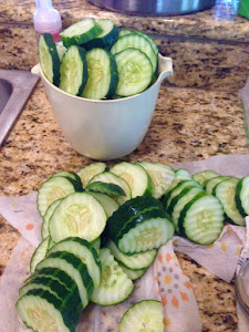 The cucumbers are ready to be pickled