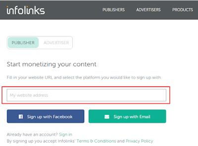 Cara pasang iklan infolinks di blog bahasa Indonesia