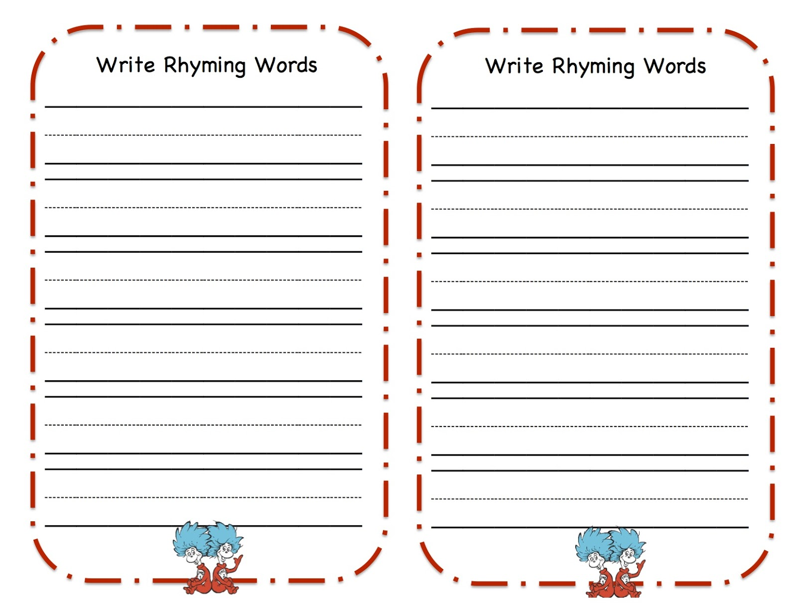 math worksheet : dr seuss rhyming worksheets kindergarten  k5 worksheets : Dr Seuss Kindergarten Worksheets