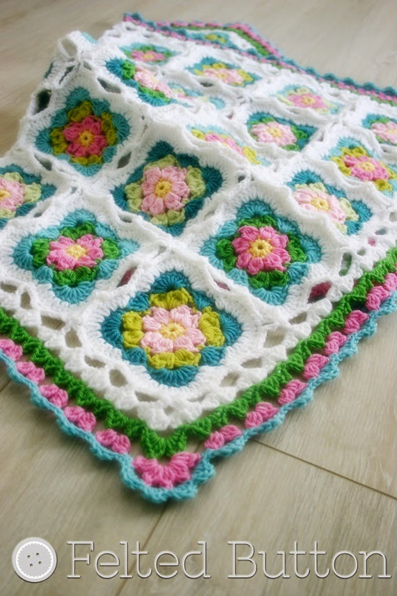 Cottage Garden Blanket (crochet pattern by Susan Carlson of Felted Button)