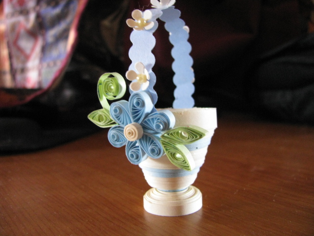 How To Make A Quilling Flower Basket : Quill and punch works my first d quilling