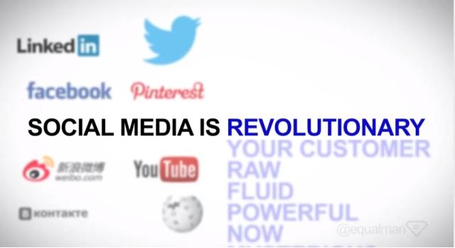 Social media is revolutionary
