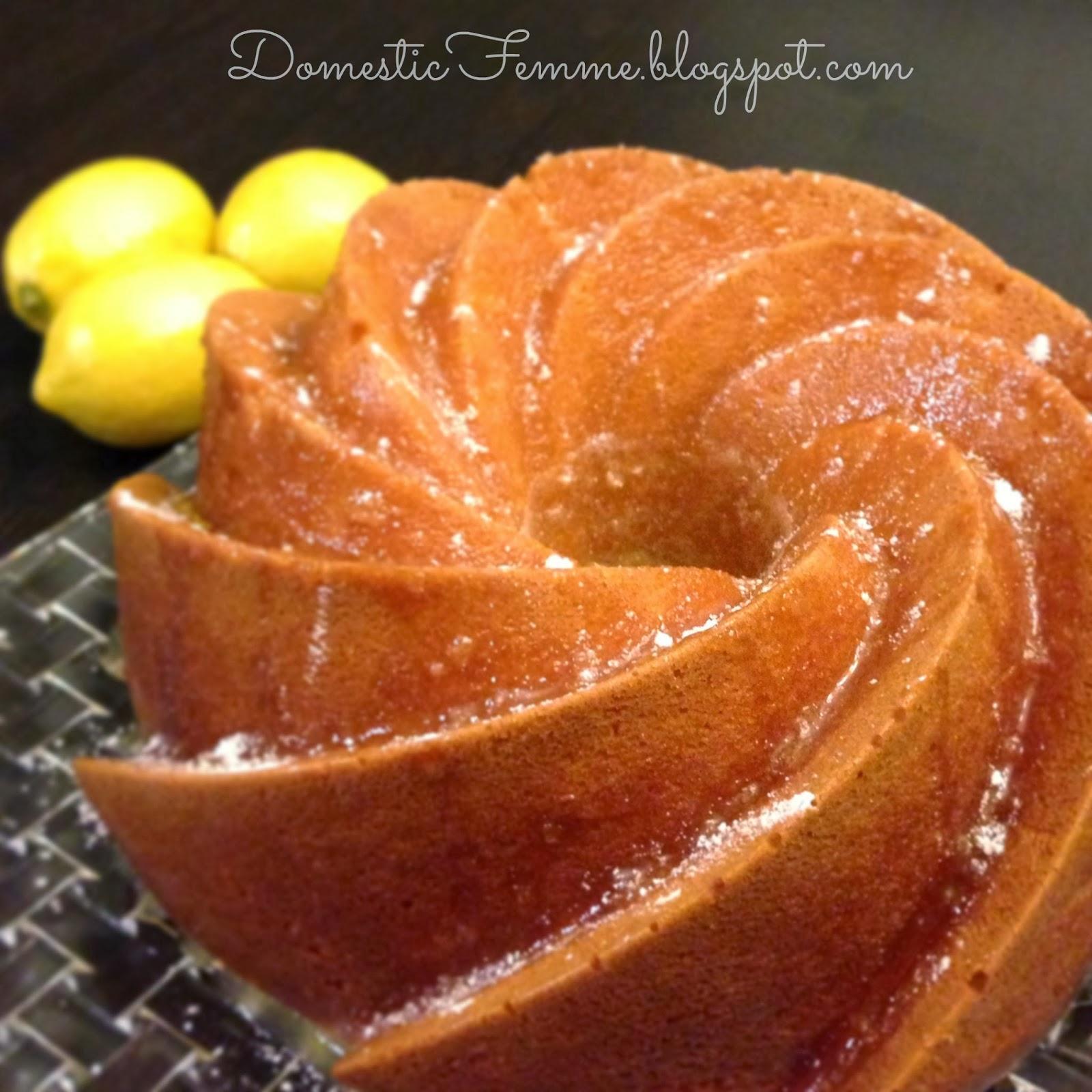 Domestic Femme Lemon Bundt Cake With Citrus Glaze