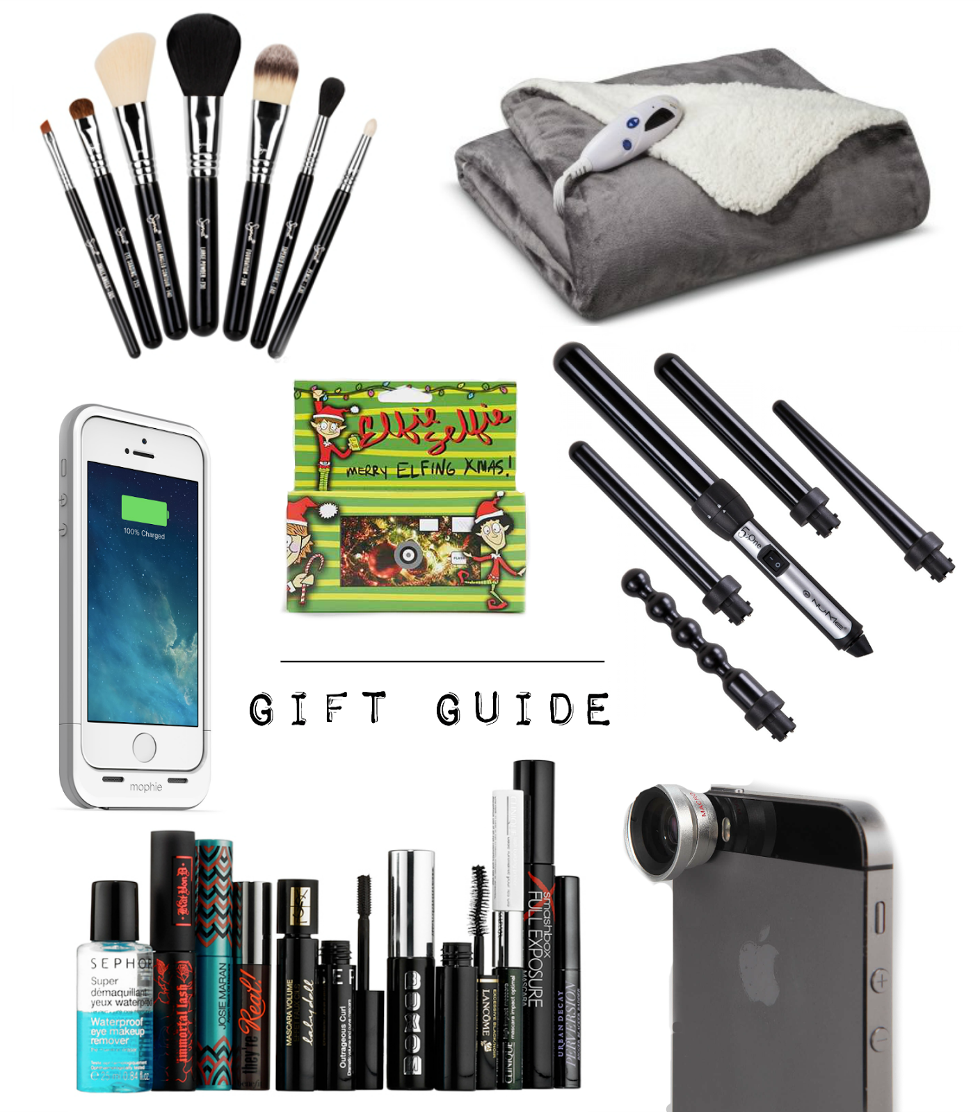 giveaway, makeup, makeup brushes, iPhone, mophie, urban outfitters, camera, lens, curling wand, nume, blanket,