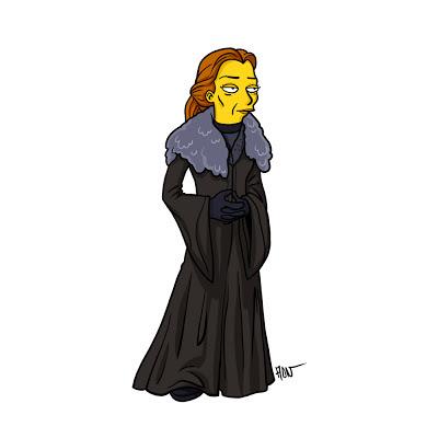Catelyn Tully los simpsons - Juego de tronos en los siete reinos