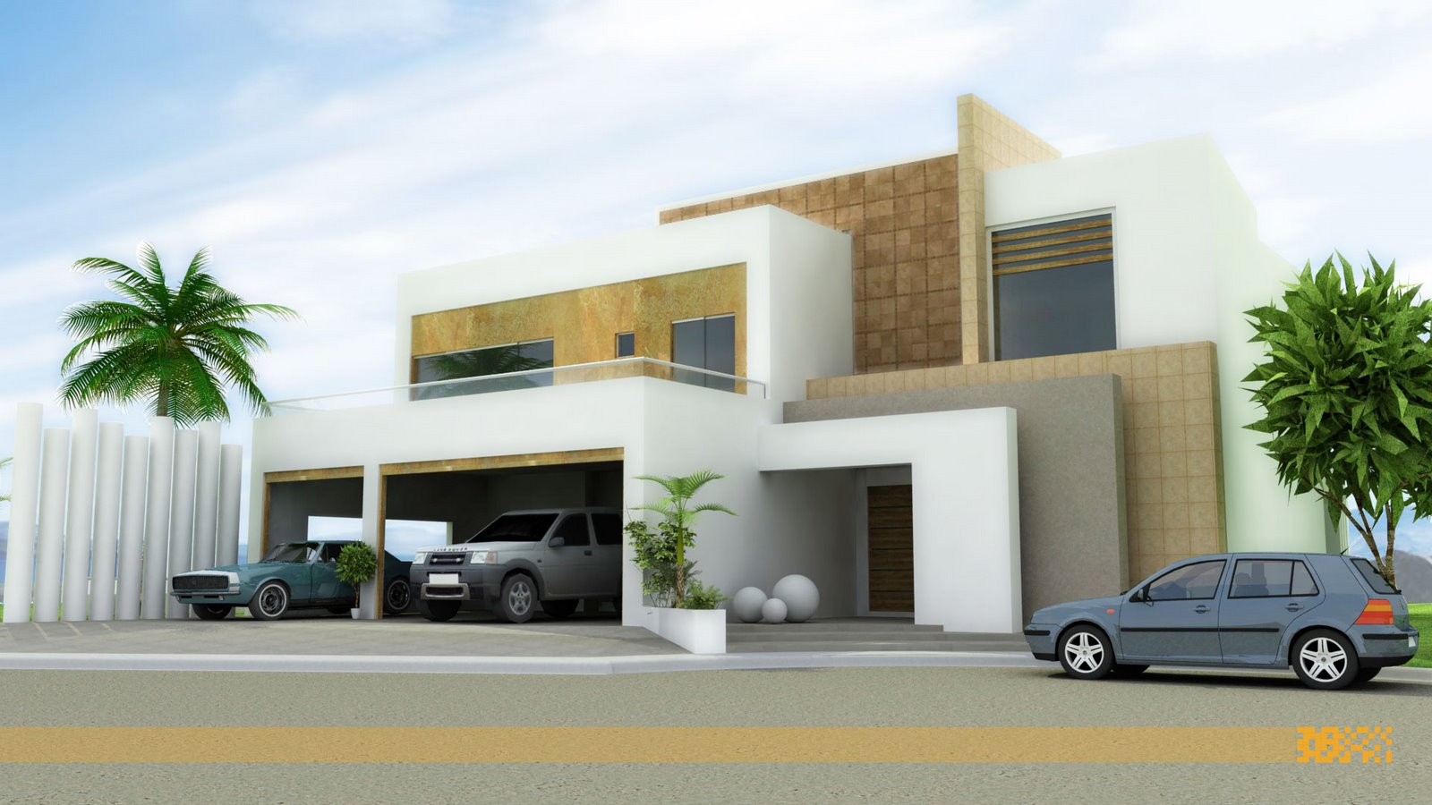 Front elevation modern house home design inside for Contemporary home elevations