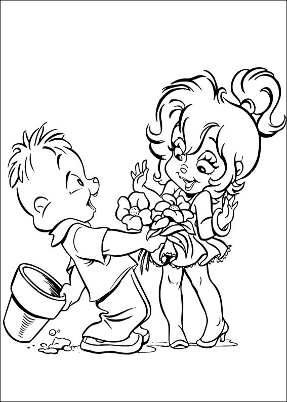 Free Love Quotes: Alvin and the Chipmunks Coloring Page
