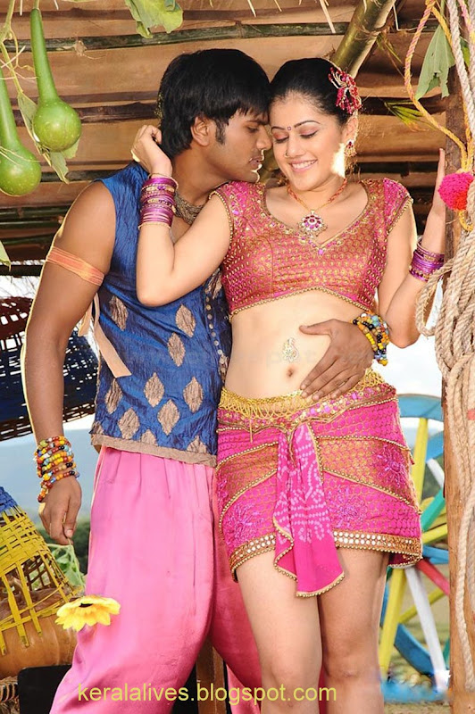 South Tabasee Showing Her Sexy White Thighs Spicy Navel and Deep Cleavage With Manju Manoj in Jhummandinadham telugu movieAmazing Photographs navel show