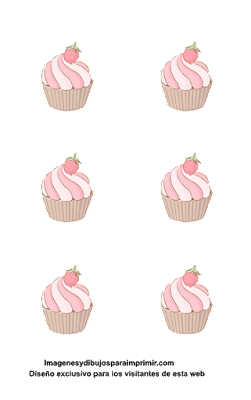 Pasteles con fresas