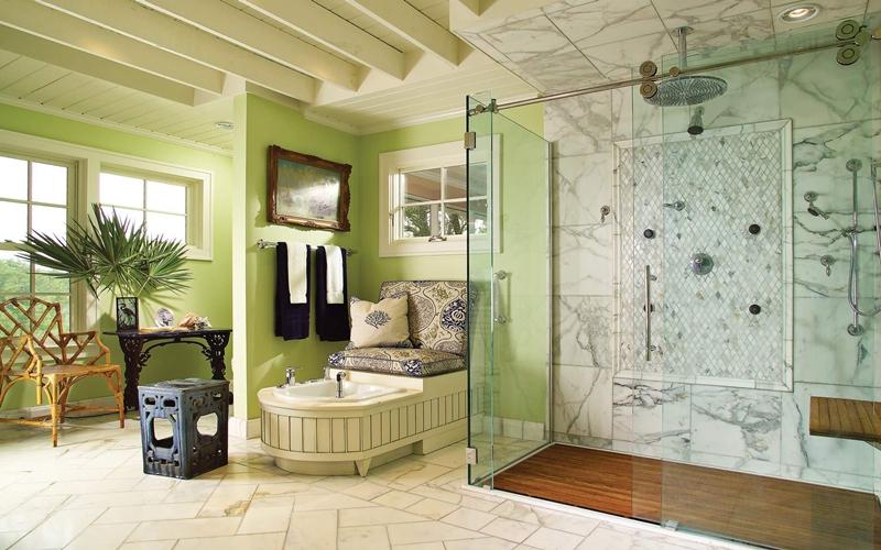 dekorasyon rnekleri klasik d enmi banyo tasar m. Black Bedroom Furniture Sets. Home Design Ideas