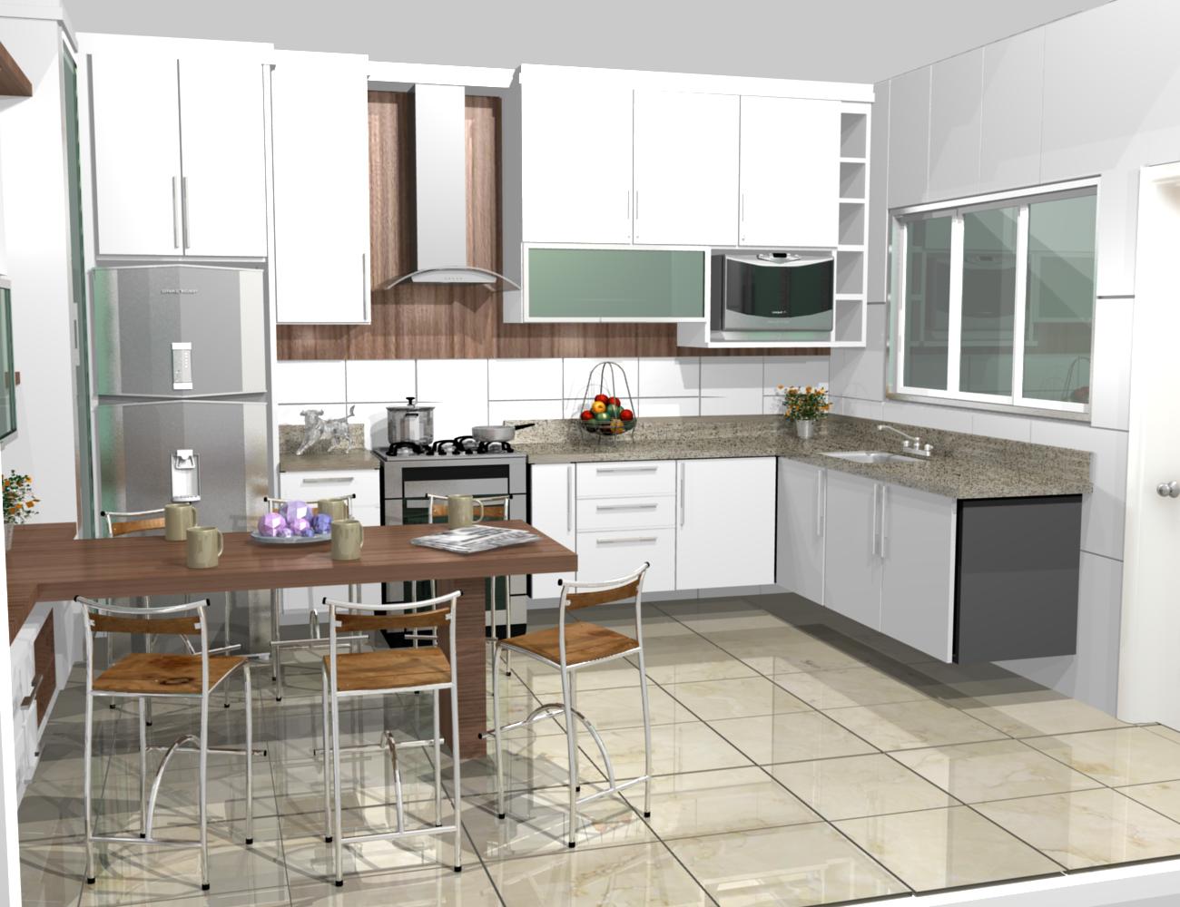 cozinha planejadas pequenas decorada americana modulada luxo moderna   #654C3B 1300 1000