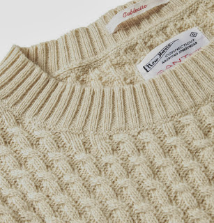 Sweater color crema trenzado de Gant Rugger