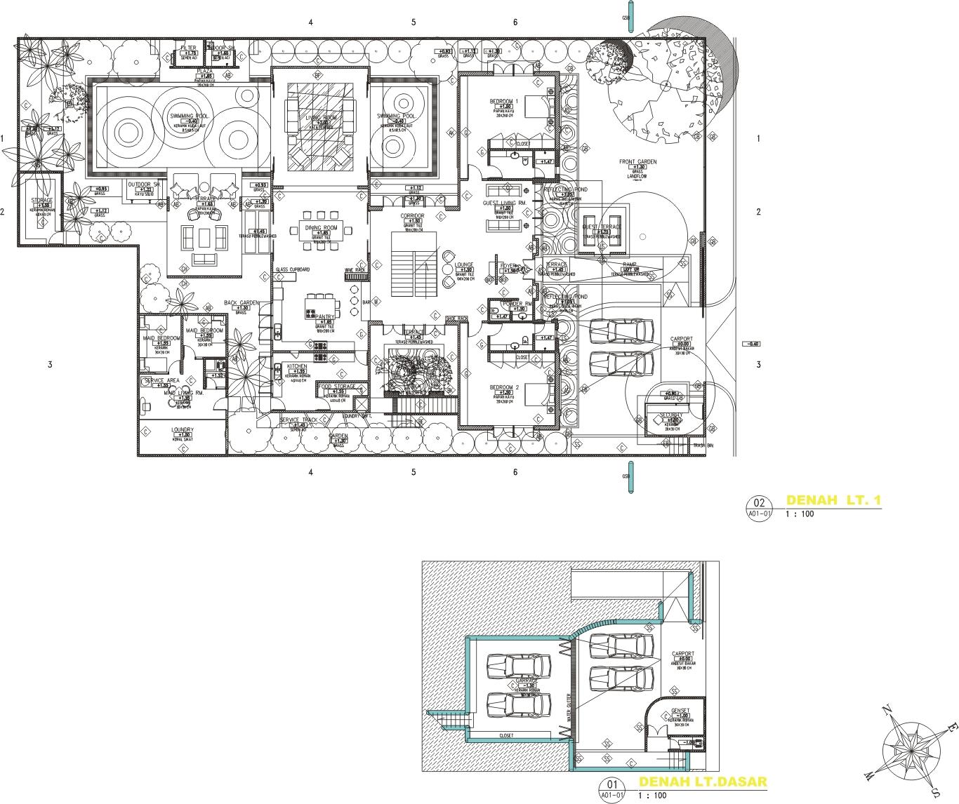 Inilah inspirasi Desain Rumah Mewah 1 Lantai 2015 yang elegan