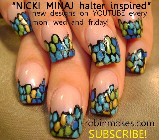 Lady Gaga Nails Face Las Vegas Royal Flush Nail Art Nicki Minaj Super B