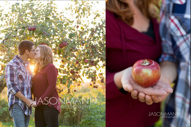 Door County Engagement Photographer, Sturgeon Bay Apple Orchard Portrait Photography