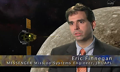 Eric Finnegan, Messenger Mission Systems Engineer – 18 March 2011. NASA-JHUAPL, 2011.