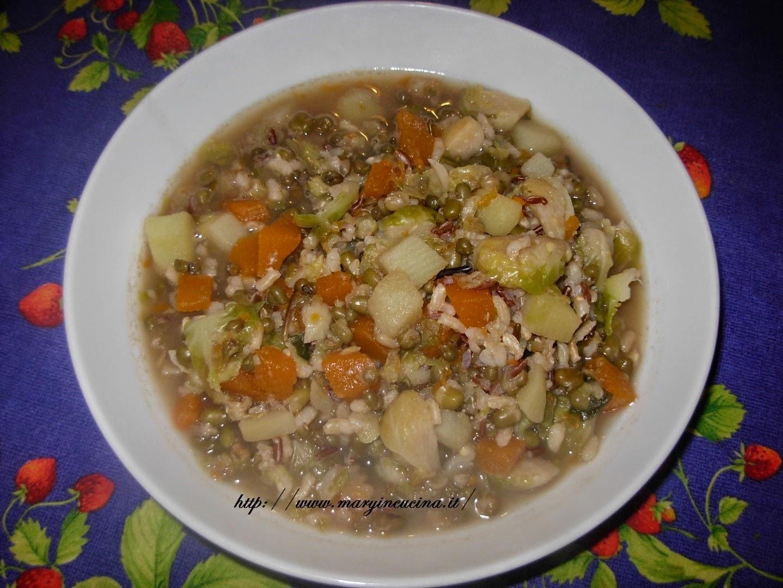 zuppa di riso selvatico e fagioli azuki