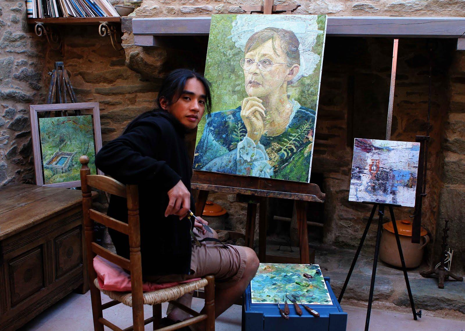 JEF CABLOG, ARTISTE PEINTRE, LA NATURE AU BOUT DU COUTEAU