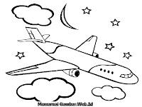 Gambar Pesawat Terbang Dimalam Hari