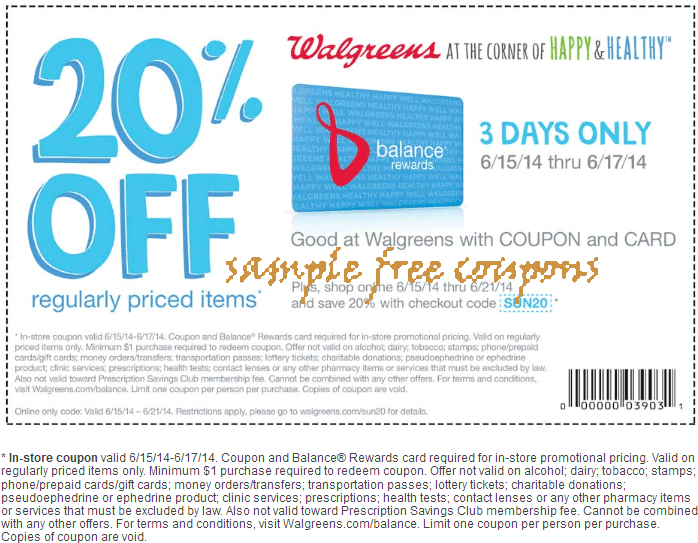 Walgreens online coupon code
