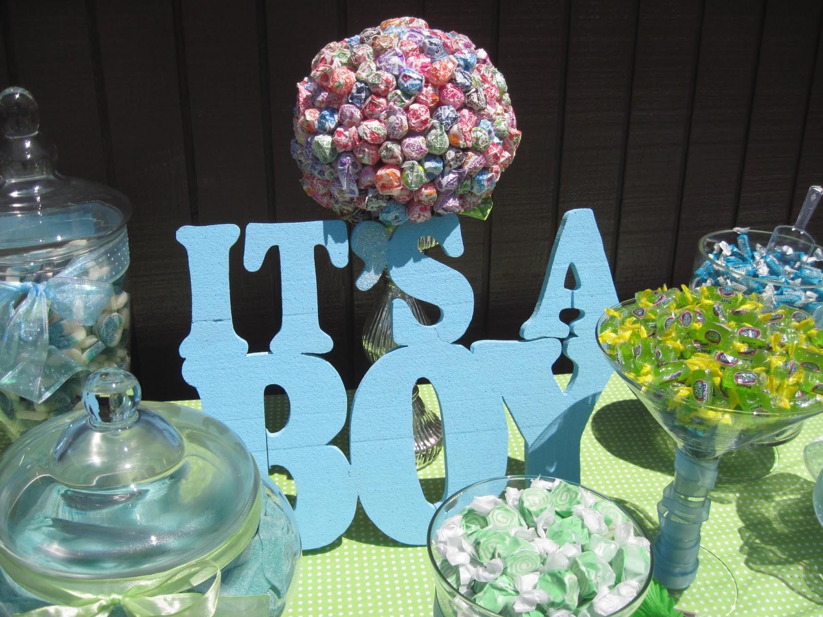 eve4art DIY Baby Boy Candy Bar Buffet