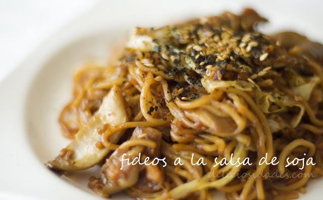 deliciosidades - Fideos a la salsa de soja