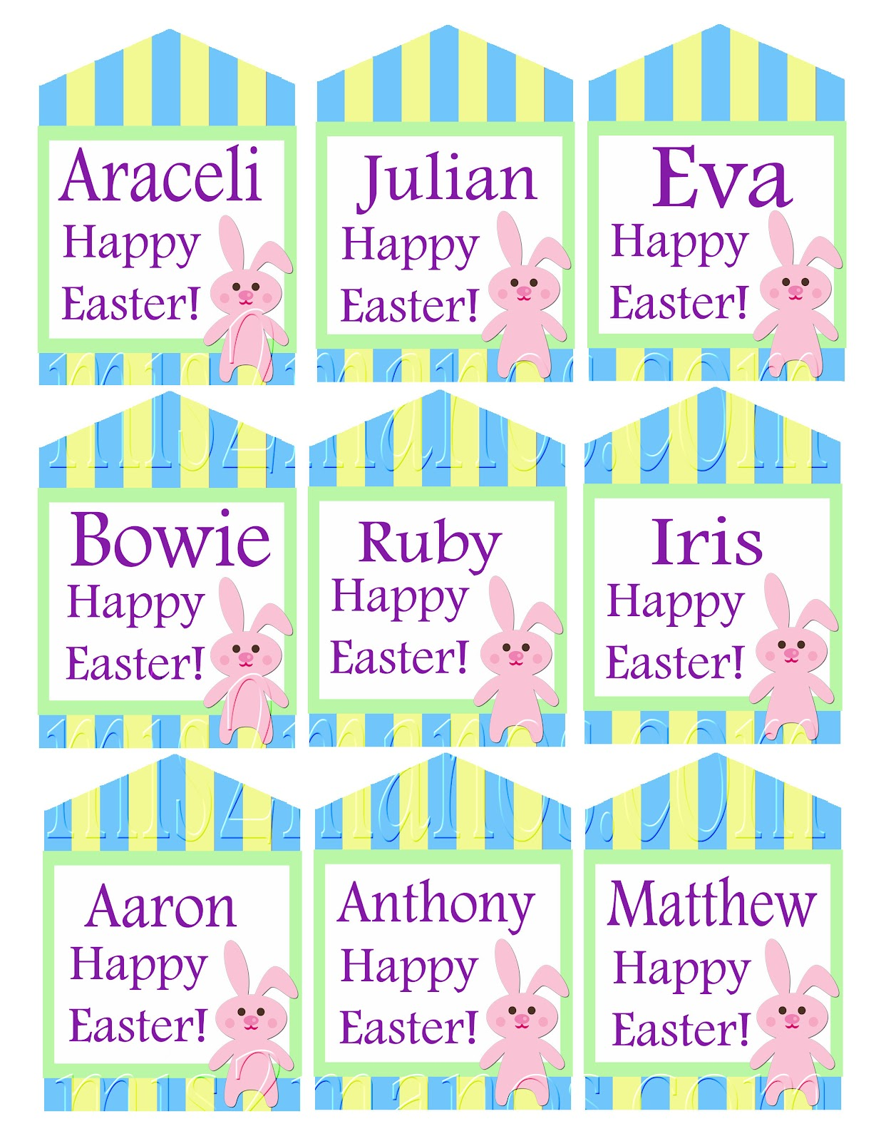 Mis 2 manos made by my hands easter tags easter gift favor httpetsylisting96639947easter tags easter gift favor printable negle Image collections