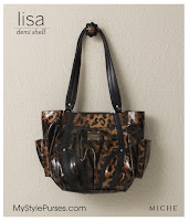 Miche Bag Lisa Demi Shell, Bronze Leopard Print Purse