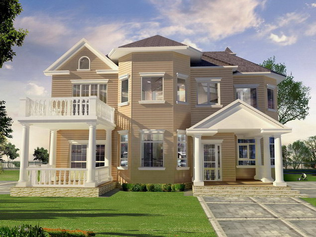 Home exterior designs exterior home design ideas for Home outside paint design