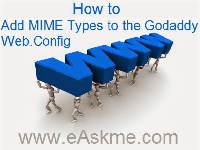 How to Add MIME Types to the Godaddy Web.Config : eAskme