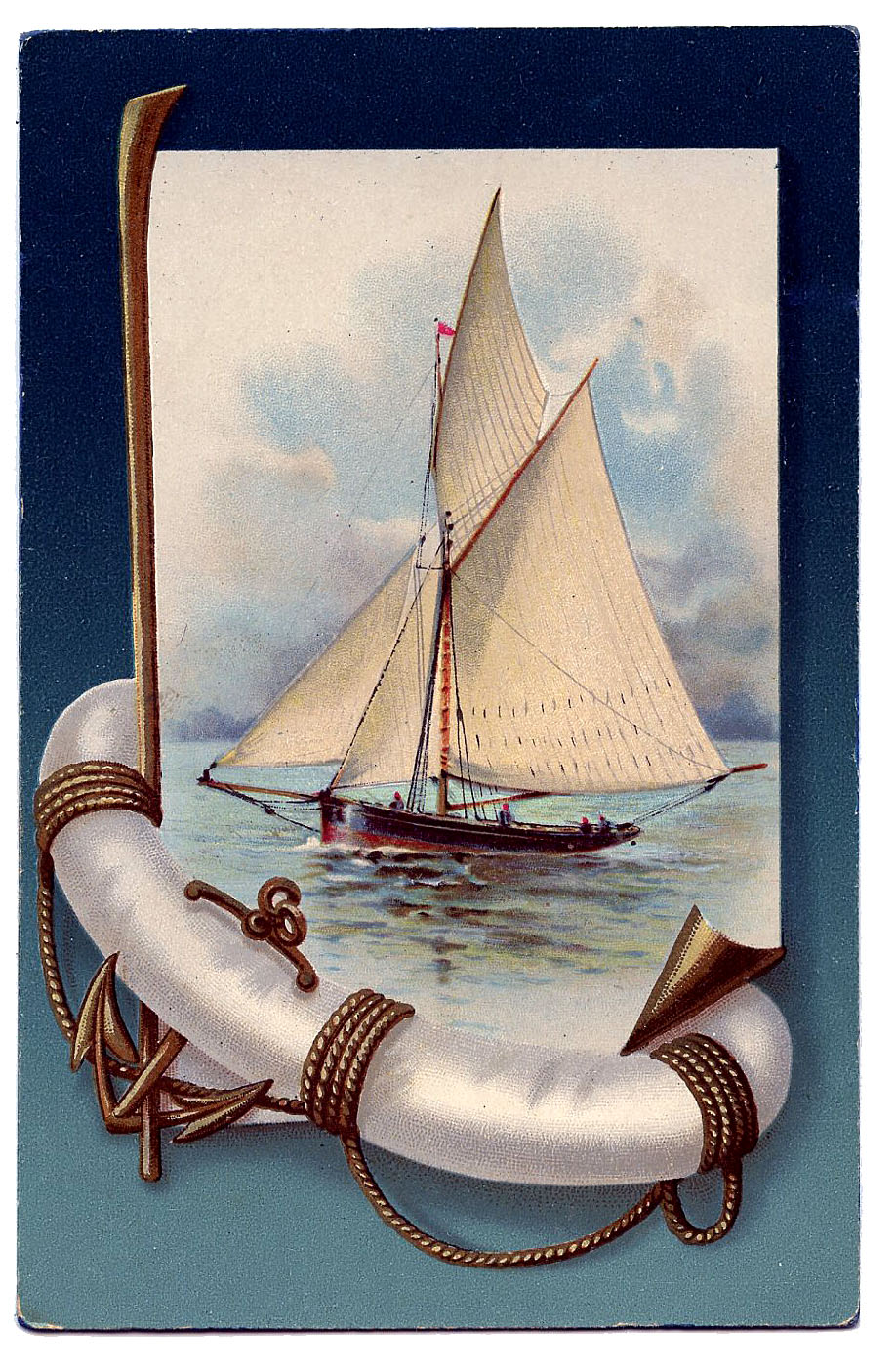 French Label & Anchor Clip Art
