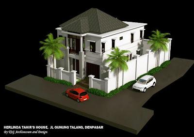 gambar 3 dimensi rumah tinggal jalan gunung talang